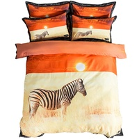 Zebra Animal Print Bedding Set Twin Queen King Size Duvet Cover Bed Sheets with Pillowcase Home Decor