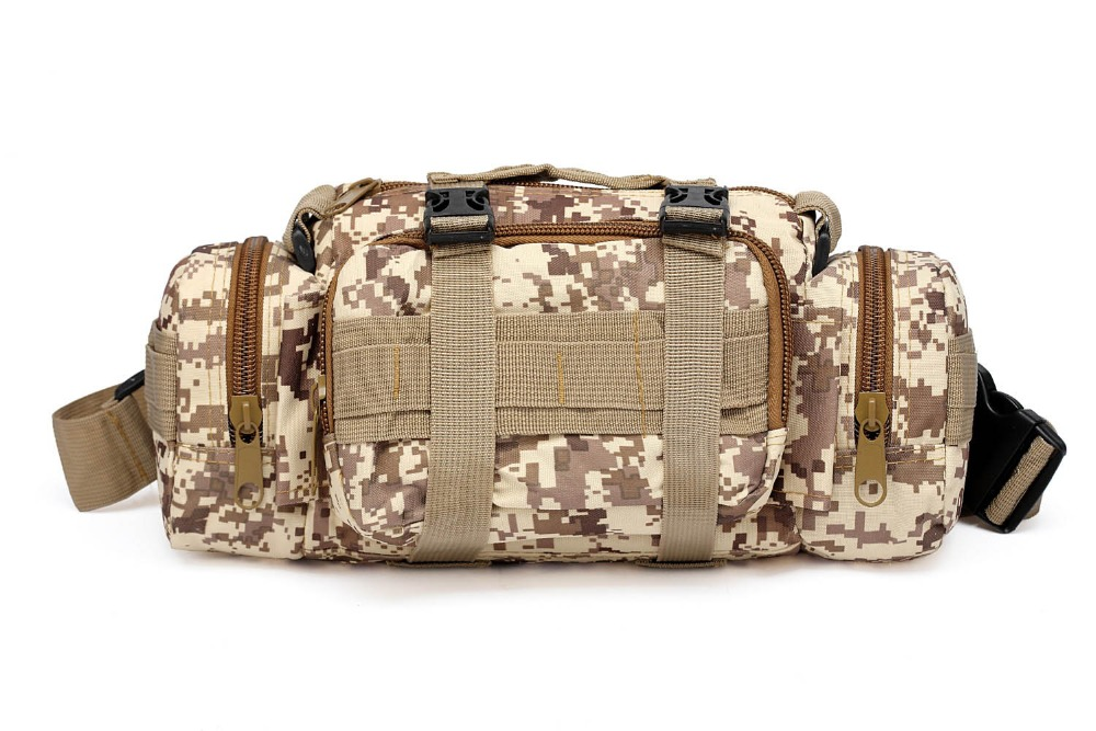 Desert Fox Tactical Pack Hiking Ride Waist Pack Chest Pack Shoulder Bag Waterproof Coating Fabric First Aid Kits For Medicine