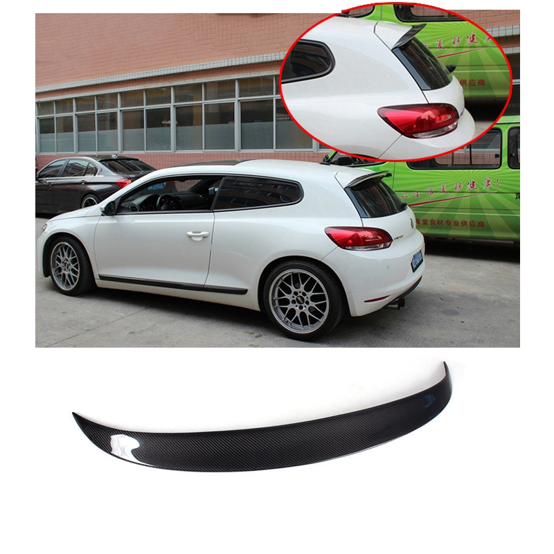 Car Styling Carbon Fiber Rear Roof GTS Spoiler Tail Trunk Lip Wing For Volkswagen VW Scirocco R 2009 2010 2011 2012 2013 2014 paint abs car rear wing trunk lip spoiler for nissan qashqai 2008 2009 2010 2011 2012 2013 fast by ems