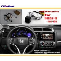 Tylna kamera samochodowa Liislee/tylna kamera cofania zestawy do Honda FIT 2013 2014 2015 2016/RCA i oryginalny ekran kompatybilny w Kamery pojazdowe od Samochody i motocykle na