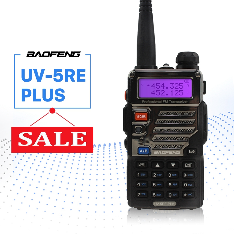 BaoFeng UV-5RE Plus Walkie Talkie 128CH Dual Band VHF 136-174MHz&UHF 400-520MHz Transceiver Two Way Radio Portable InterphoneBaoFeng UV-5RE Plus Walkie Talkie 128CH Dual Band VHF 136-174MHz&UHF 400-520MHz Transceiver Two Way Radio Portable Interphone