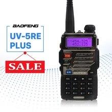 BaoFeng UV-5RE плюс рация 128CH двухдиапазонный УКВ 136-174 мГц и UHF 400-520 мГц трансивер двухстороннее радио Портативный переговорные