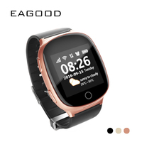 EAGOOD Elderly Smart Watch Old People SIM Card Call Phone GPS+LBS+Wifi Tracking SOS Anti lost Heart Rate Monitor Fall down Alarm