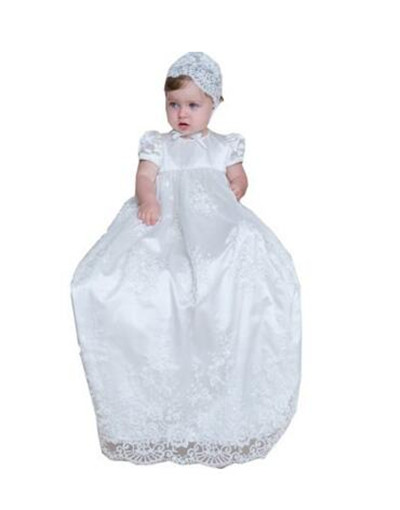 2016 Toddler New Baptism Gown Baby Girl Christening Dress White/Ivory Lace Applique Robe 0-24month trend designer campus fashion ladies round bubble backpack women men backpack high capacity teenage girl school shoulder bag