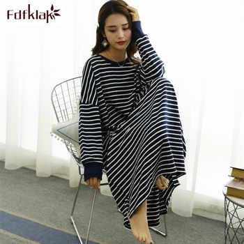 Fdfklak Casual loose nightgown women long sleeve night dress large size women's sleepwear gown nightdress female nightshirt - DISCOUNT ITEM  30% OFF All Category