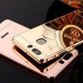 Luxury Aluminum Plating Mirror Case For Huawei Honor 8 V8 4X 5X 6X 5C 7 7i Nova P8 P9 Plus Mate 7 8 Metal Frame PC Back Cover