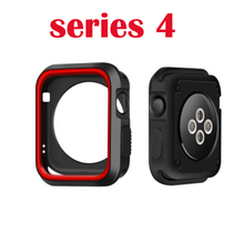 38mm 42mm for iwatch  3 2 1 Sports Silicone Frame Soft Rubber Full Protective Case For Apple Watch cover series 4 40mm 44mm silicone cover for apple watch case 42mm 38mm 40mm 44mm sport band frame rubber soft case for iwatch series 4 3 2 1 back cover