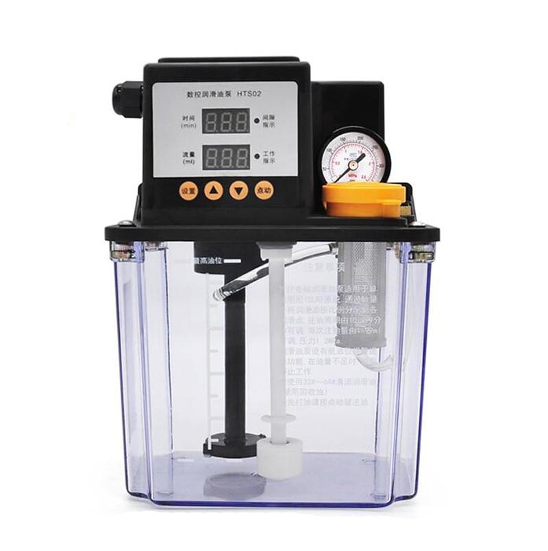 Nouveau 2L CNC pompe à lubrifiant électromagnétique pompe à huile lubrifiante automatique