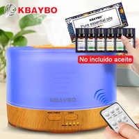 500ml Humidifier Remote Control Aroma Essential Oil Diffuser with 4 Timer Settings 7 Color Changing LED lamp
