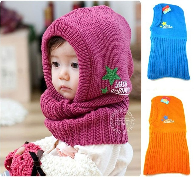 Newest Style Winter Cute Lovely Baby Infant Children Knitting wool earflap hat caps beanie cap 5 colors 10pcs/lot EMS DHL Free