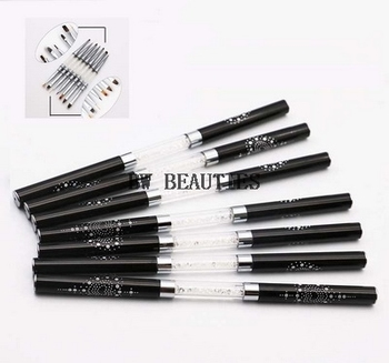 200Pcs/Lot Hight Quality Double Head Nail Art Brush Pen Dual Head UV Gel Nail DIY Lining Painting Manicure Sculpture Tool