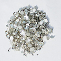 Mixed 6 Sizes Clear Crystal Nail Art Rhinestones Round Glass Stones Flatback Non Hotfix Rhinestone