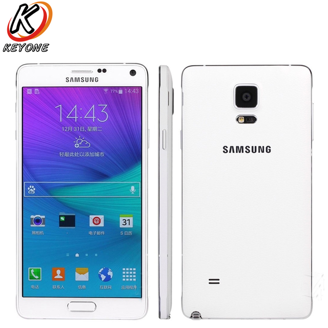 "Original Samsung Galaxy Note 4 N9100 Note4 LTE Mobile Phone Snapdragon 805 5.7"" 16GB ROM 3GB RAM NFC Cell Phone"