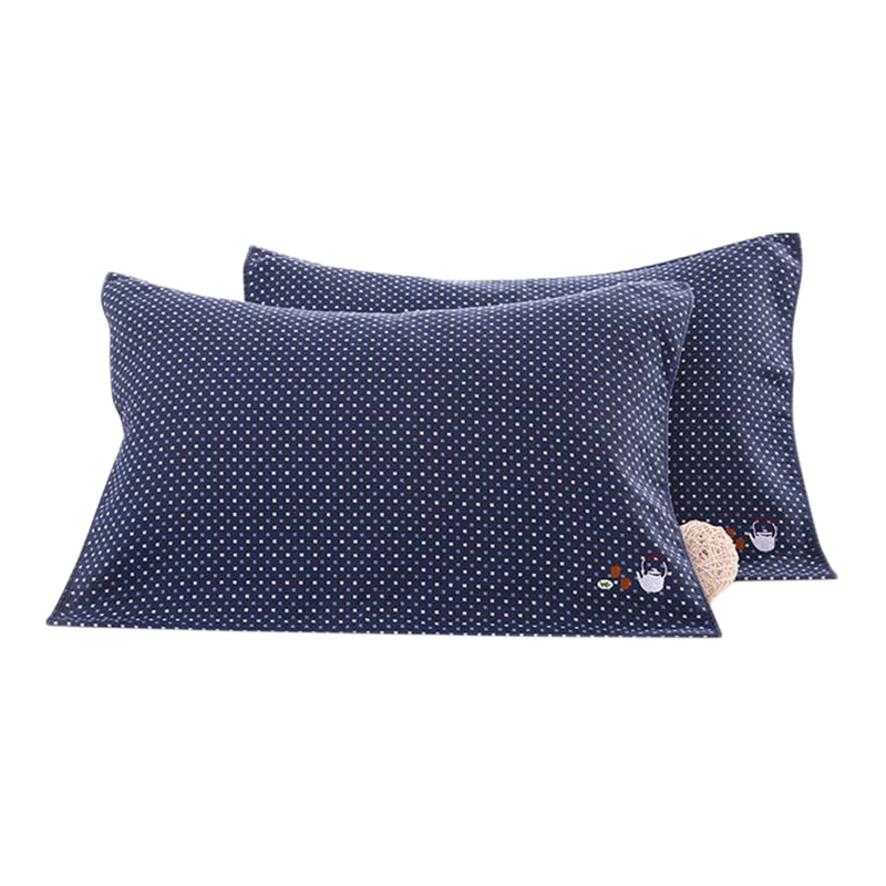 1 Pair Embroidered Spots 100% Cotton Pillow Towel For Adults Women Men Rectangle 50x75 cm In Bedroom Factory Direct