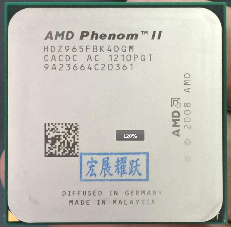 AMD  Phenom II X4 965  X965 125W  Quad-Core AM3 938 CPU 100% Working Properly Desktop Processor