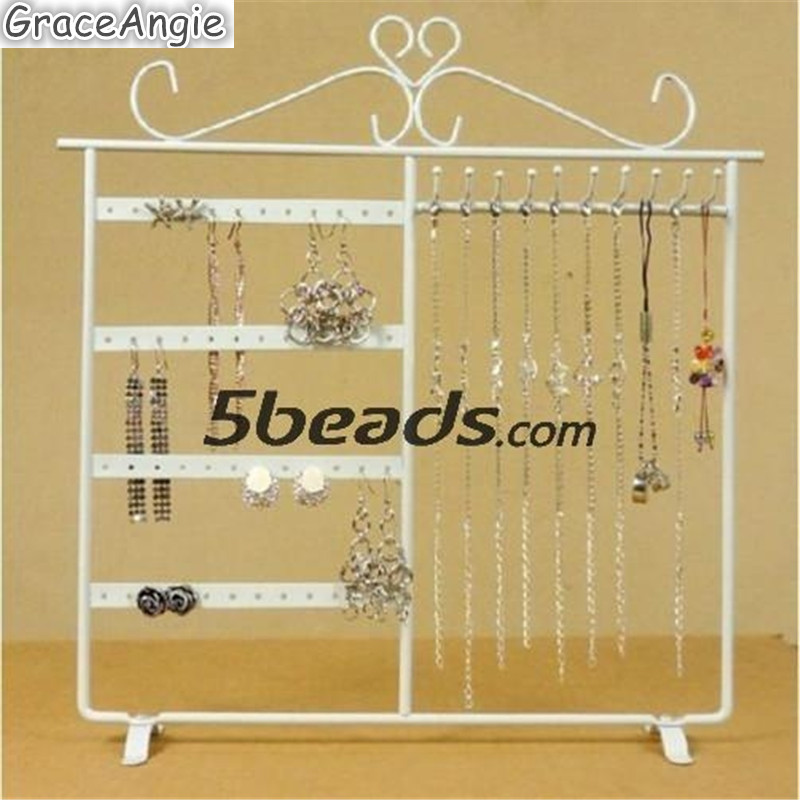 Fashion32*32cm White Earring Stand Holder storage Jewelry Display rack New arrive european household jewelry storage display stand