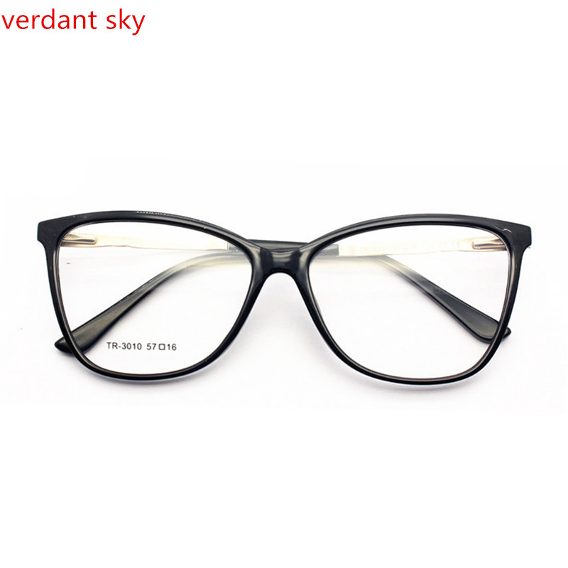 42523ba599 Men Big Square Spectacles Fashion Ultra Light Flexible Acetate TR90 Glasses  Frames with Clip On Sunglasses For Lenses Degree-in Eyewear Frames from  Apparel ...