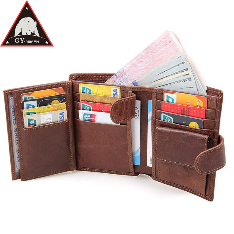 ANAPH Men's RFID Blocking Cow Leather Bifold Wallet/ Multi-cards Holders/ Business Men Credit Cards Case/ Passport card Pocket zelda wallet bifold link faux leather dft 1857
