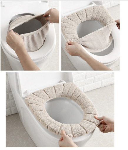 Universal Soft Heated Washable Toilet Seat Mat Set For Home Decor Closestool Mat Seat Case Warmer Toilet Lid CoverAccessories
