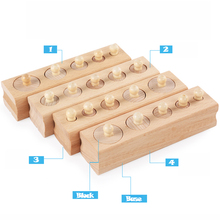 Wooden Montessori Educational Cylinder Blocks