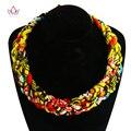 Accesorios africano para Las Mujeres Mujeres Del Estilo de Bohemia Collares y Colgantes WYA150 Africano telas de algodón Collar Colgante Para Regalo