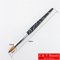Hot Sale Factory Direct SIZE 18 100 Kolinsky Nail Brush Acrylic Nail Brush With Acrylic Handle