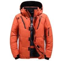 겨울 오리 자켓 남성 아웃웨어 두꺼운 따뜻한 눈 파카 망 후드 윈드 브레이커 오버 코트 새로운 패션 야외 다운 재킷 4XL