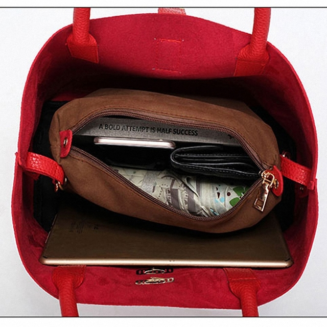 Women's Handbags Fashion Shoulder Bags Ladies Totes Simple Women PU Tote Bag 5