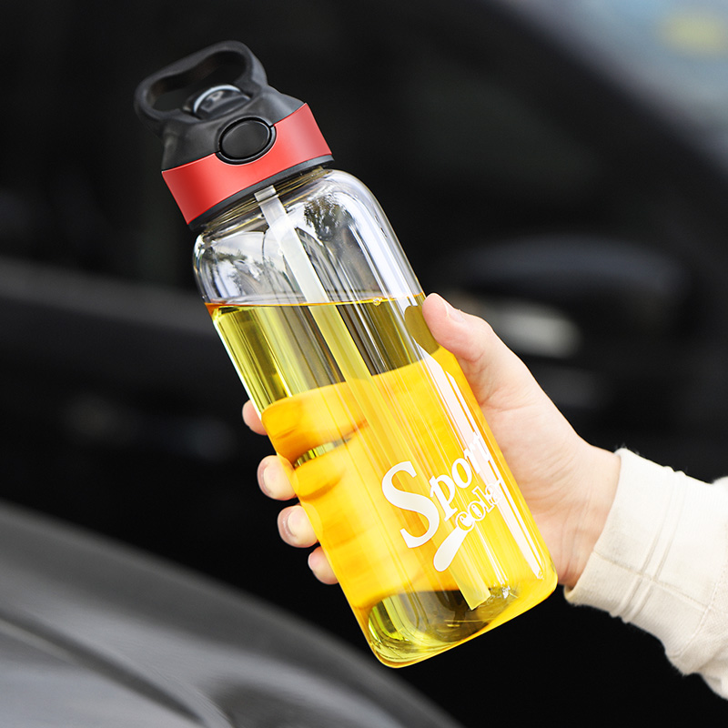 750ML 1000ML Water Cup Bottle for Juice Coffee Portable Tumbler My Bottles Travel Mug with Straw