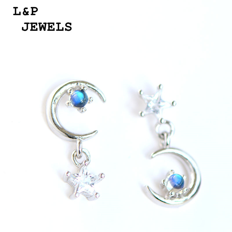 Napel Natural Gemstone 100% Authentic 925 Sterling Silver Earrings For Women Moonstone Jewelry Special Style Earrings Fine Jewel summer special style 100