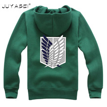 Green Black Unisex Anime Attack on Titan Cosplay Shingeki No Kyojin Survey Corps Wings of Liberty Soldiers Hoodie Sweater S-2XL