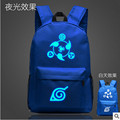 Fashion Flash Luminous Printing Backpack Glow leisure backpack Naruto Backpack School Bags for Teenagers Mochila