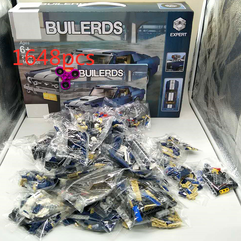 Ford Mustang 10265 Technic Series  Race Car Building Assembled Blocks Bricks Enlighten Compatible With Technic
