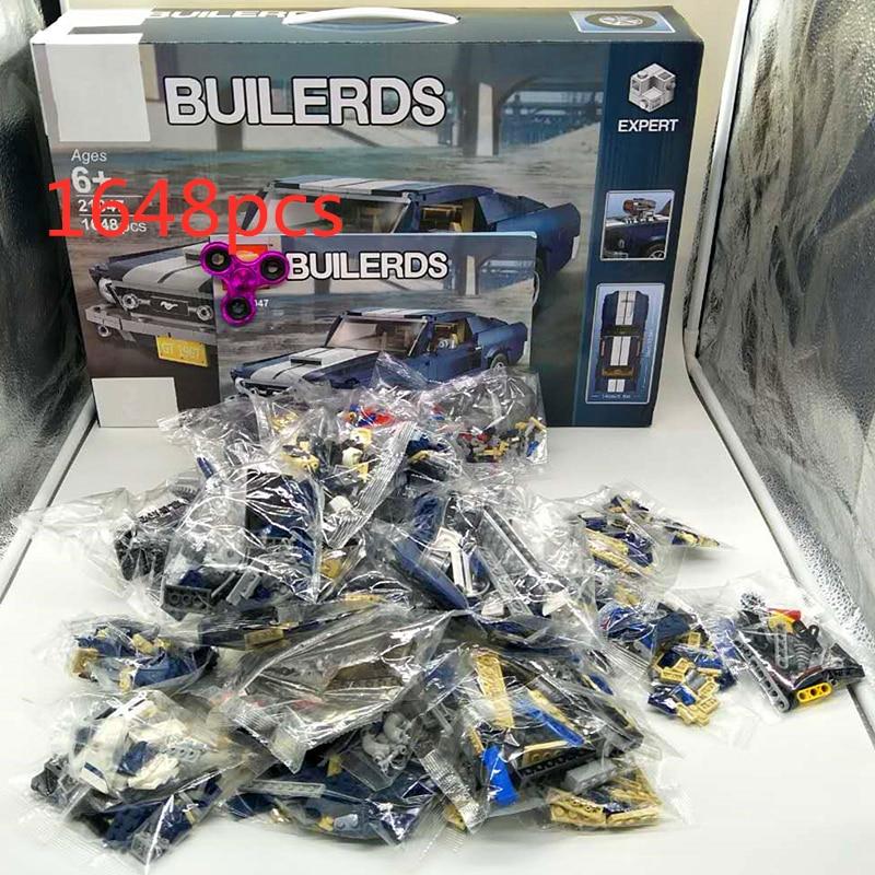 Ford Mustang Technic Series  Race Car Building Assembled Blocks Bricks Enlighten Toytoyatechnic