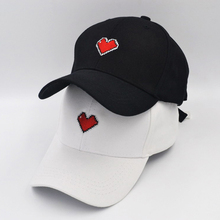 Love Heart Baseball Cap Embroidery Dad Hat 100% Cotton Buzzwords Snapback  Caps Unisex Fashion Adjustable 805715f8dc28