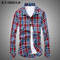 Autumn Fashion Slim fit Shirts Men/Women Cotton Casual Plaid Shirt Chemise homme Long sleeved Men Shirt Camisas social masculina