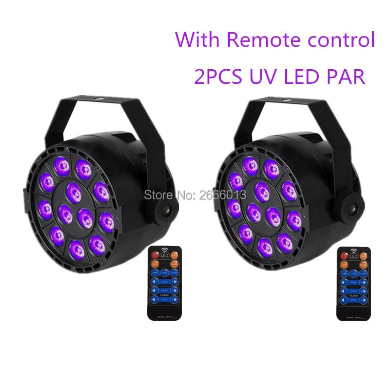 2pcs/lot With Reomte control 36W UV Led Stage light Ultraviolet Led par Light for KTV Party Pub Club Disco UV purple LED lamps