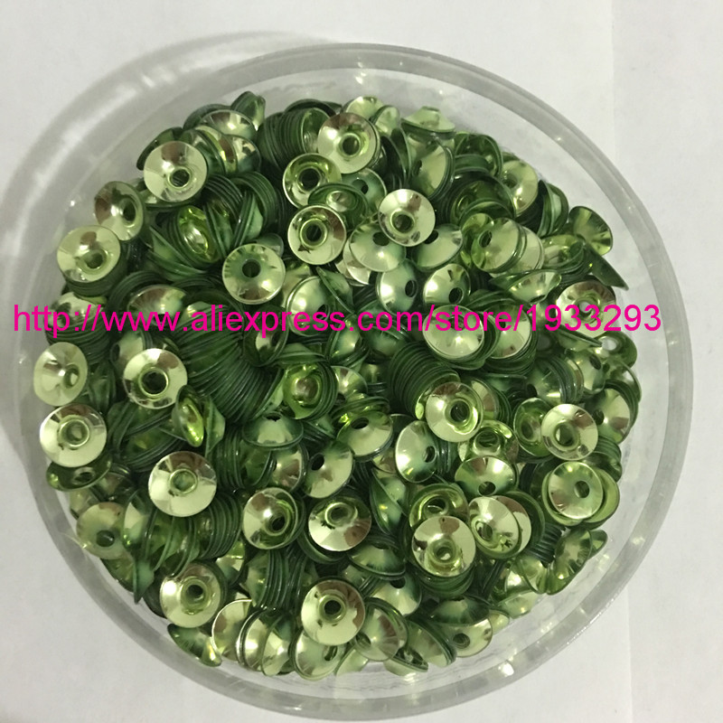 3000pcs Round Cup Sequins 6mm green