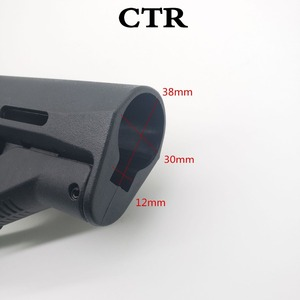 Image 2 - Тактическая нейлоновая CTR Задняя поддержка CTR после ухода для страйкбола AEG игрушка Охотничьи аксессуары