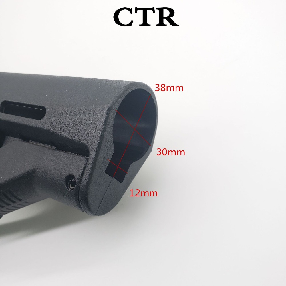 Image 2 - Tactical Nylon CTR Rear Back Support CTR After Care Back For Airsoft AEG Toy Hunting Accessories-in Hunting Gun Accessories from Sports & Entertainment