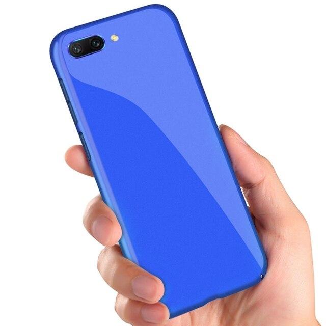 Honor 10 lujo Slim caja de Color sólido Coque para Huawei Honor 10 caso duro cubierta Funda para Huawei Honor10 v10 V9 caso