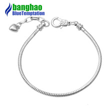 3mm bracelet charms silver joyas de plata 925 original perles pour la fabrication de bijoux jewelry beads commodities bracelets цена