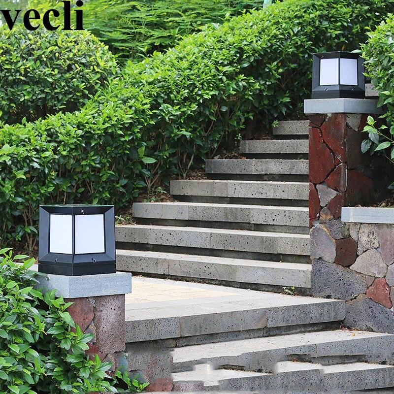 Nortic style outdoor lamp post acrylic creative corridor residential countyard luz solar led para exterior villas superb residential style
