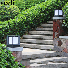 Nortic style outdoor lamp post acrylic creative corridor residential countyard luz solar led para exterior