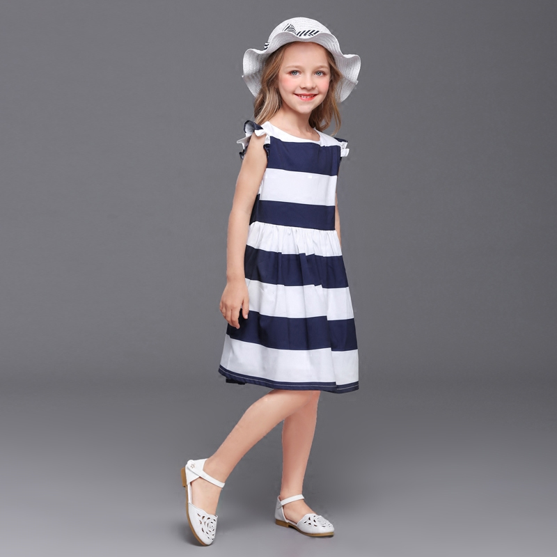 family match outfits children kids girl navy striped mini-me dress mother baby Summer beach dress mom and daughter party dresses navy tiered design mini dress