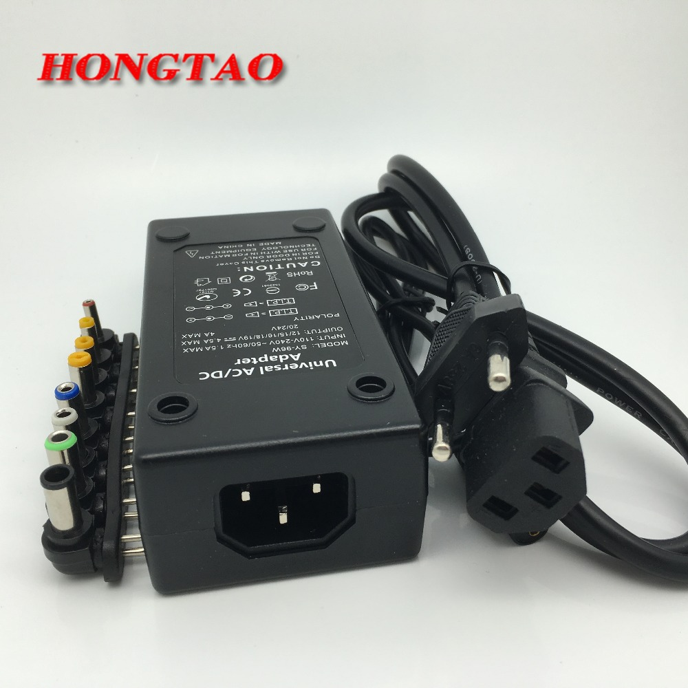 110-220v AC To <font><b>DC</b></font> 12V/15V/<font><b>16V</b></font>/18V/19V/20V/24V Laptop Charger <font><b>Adapter</b></font> 96W Universal Laptop PC Netbook Power Supply Charger image
