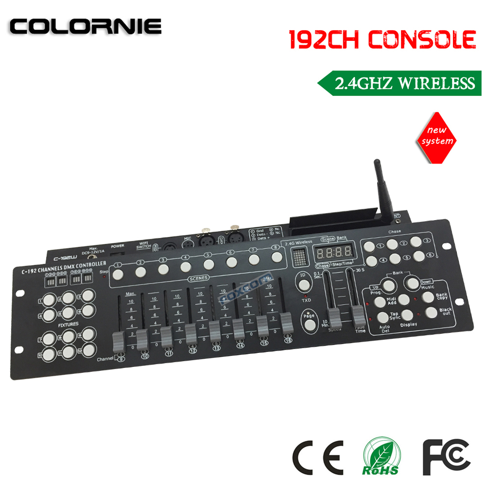 DHL free shipping 2.4G Wireless DMX console with 192CH. DMX console controller, and wireless  dmx tranciever free shipping dmx 192 controller cheap