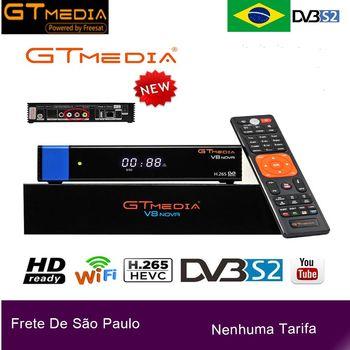 Medios GT DVB-S2 Receptor de TV satélite decodificador V8 nova azul Freesat V8 Nova TLC a aire com Wi-Fi embutido cccam newcam BR