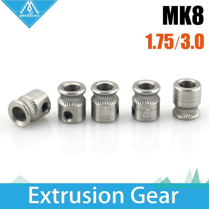 9*5*11mm MK8 Extrusion Gear 1.75/3MM For Reprap Makerbot 3D Printer Accessories Concave Extruder  Driver Wheel Gear Feeding