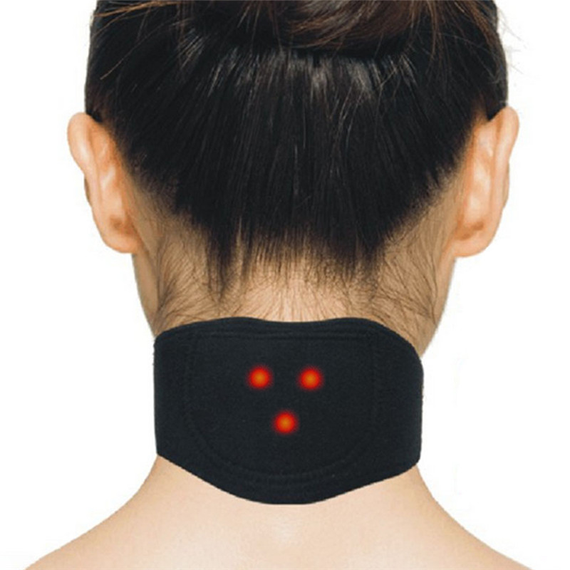 Magnetic Therapy Neck Massager Tourmaline Cervical Vertebra Protection Spontaneous Heating Belt Body Massager Health Care